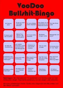 Spielkarte für HiFi-Voodoo Bullshit-Bingo