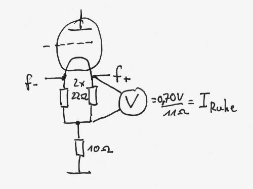 So wird jetzt bei direkt geheizten Trioden das BIAS gemessen